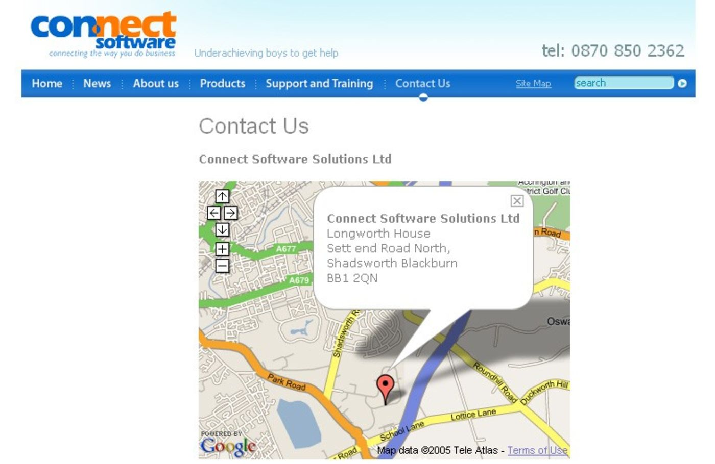 Connect Software Solutions Ltd Contact us page