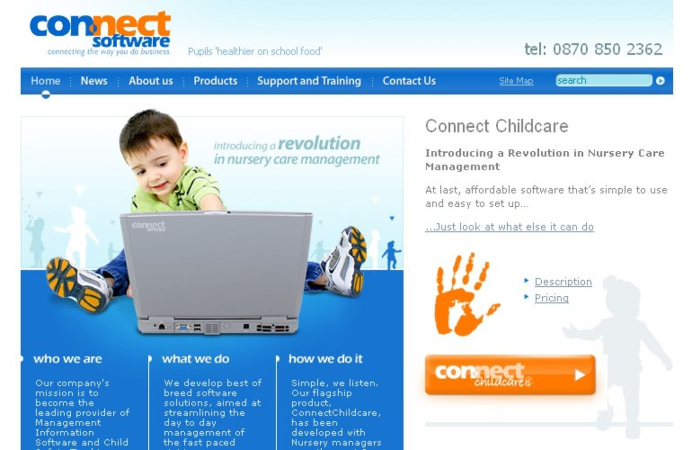 Connect Software Solutions Ltd Homepage header
