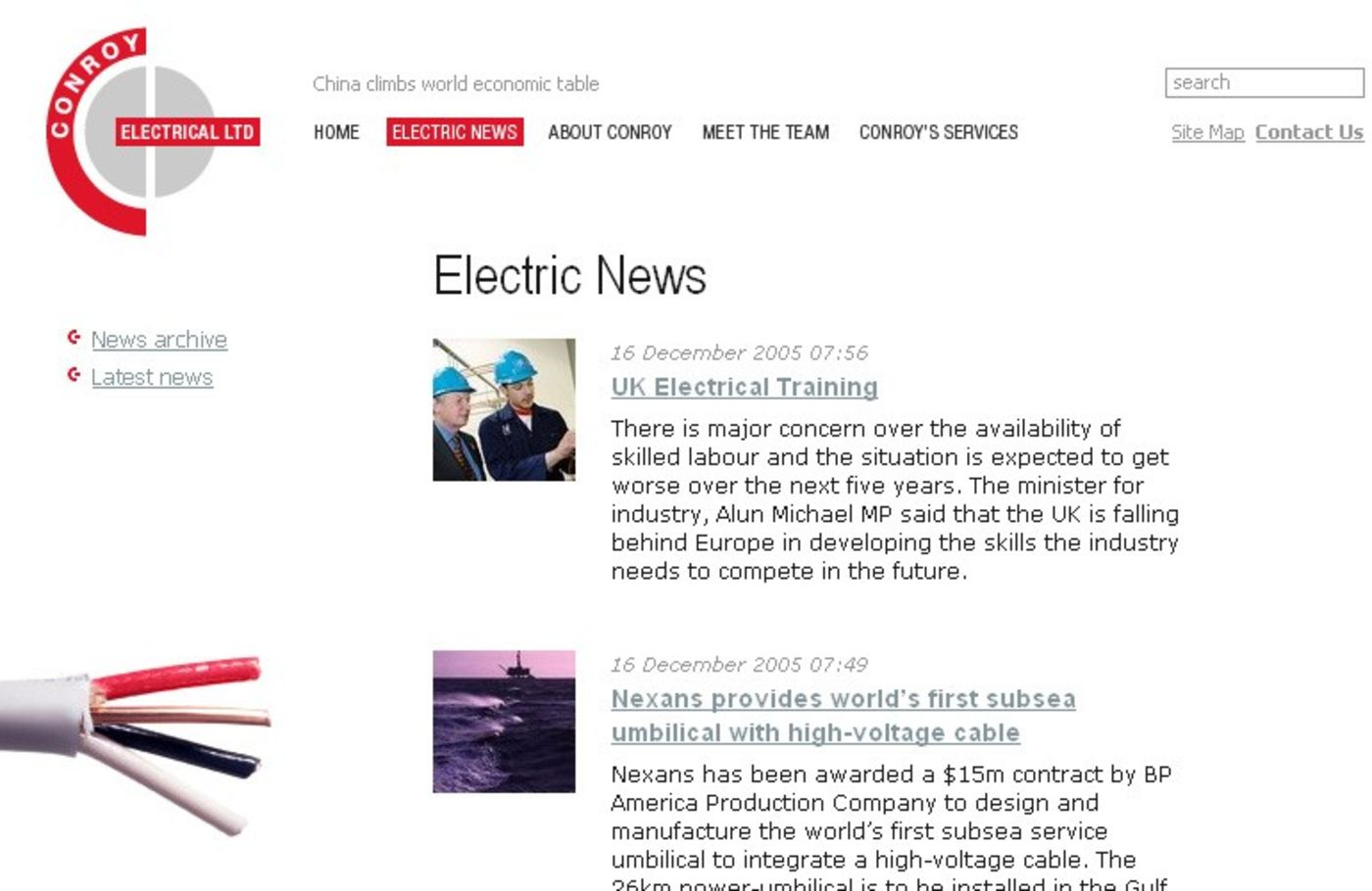 Conroy Electrical Limited Electric news