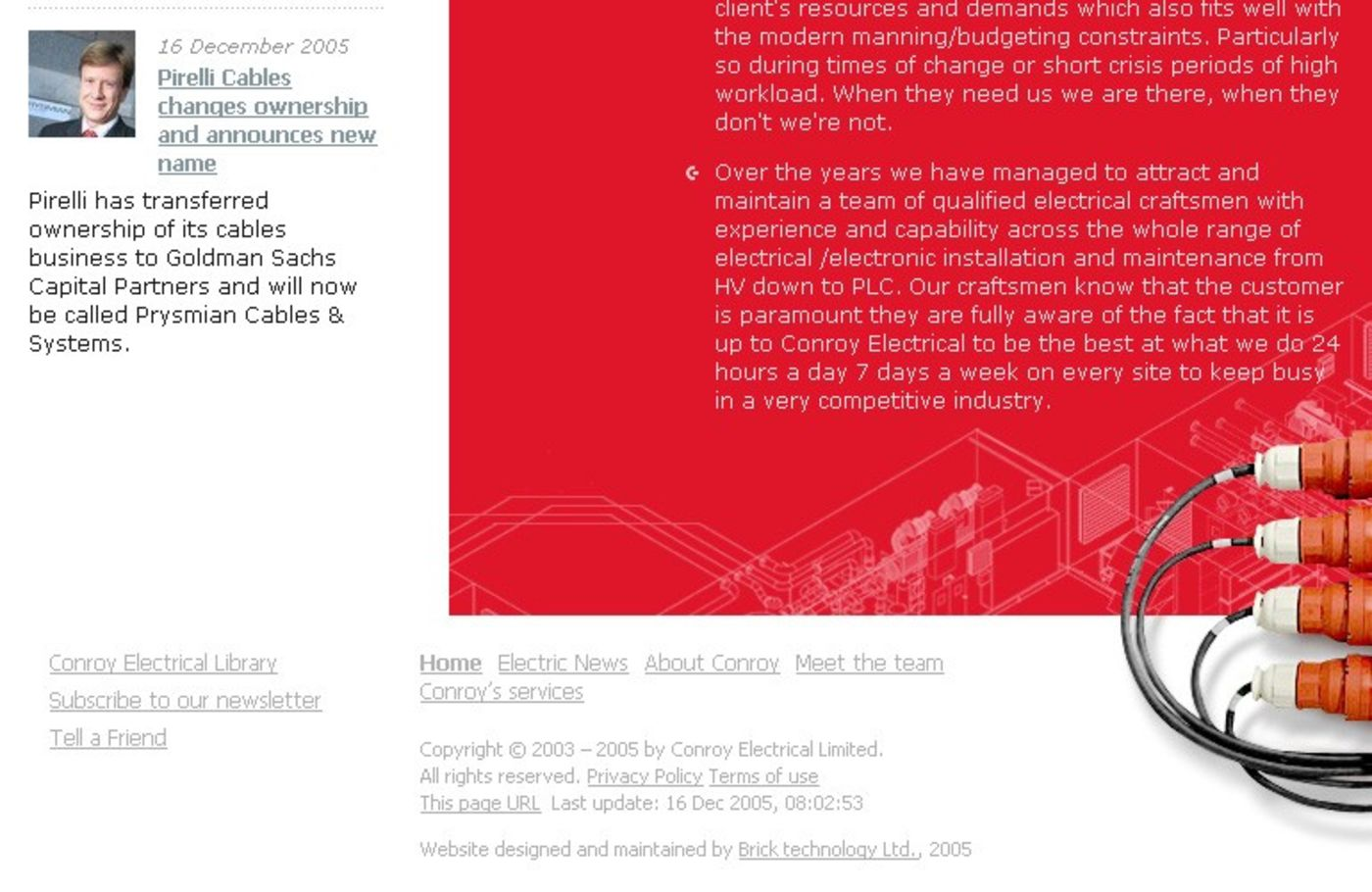 Conroy Electrical Limited Homepage footer