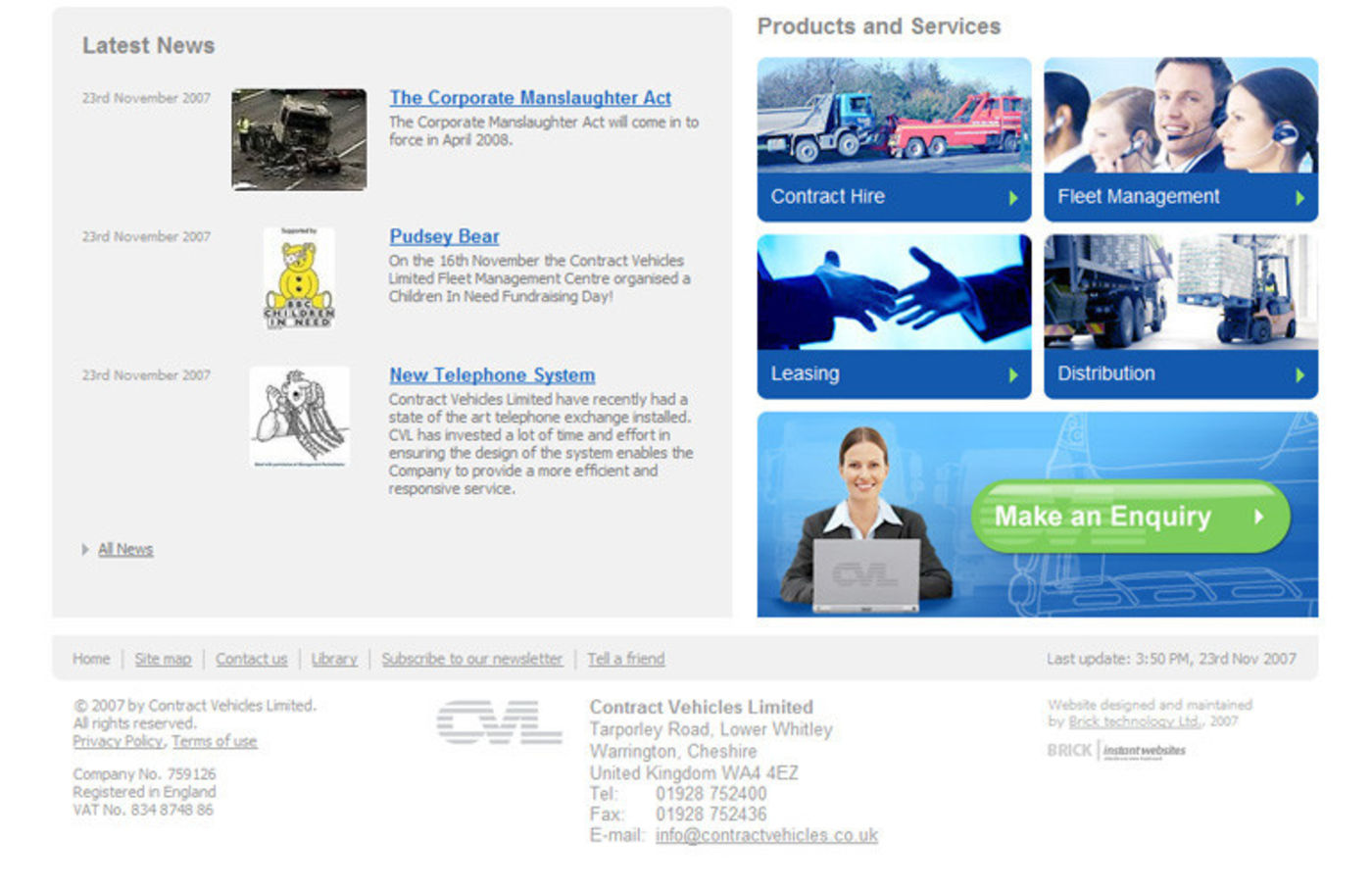 Contract Vehicles Homepage footer