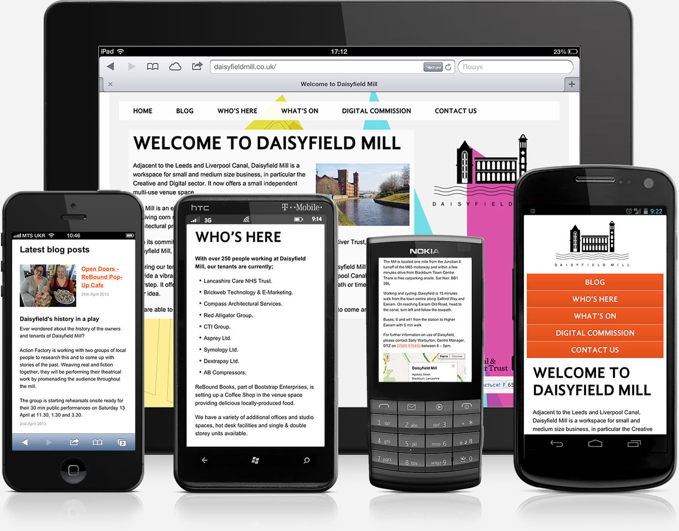 Daisyfield Mill Mobile Version