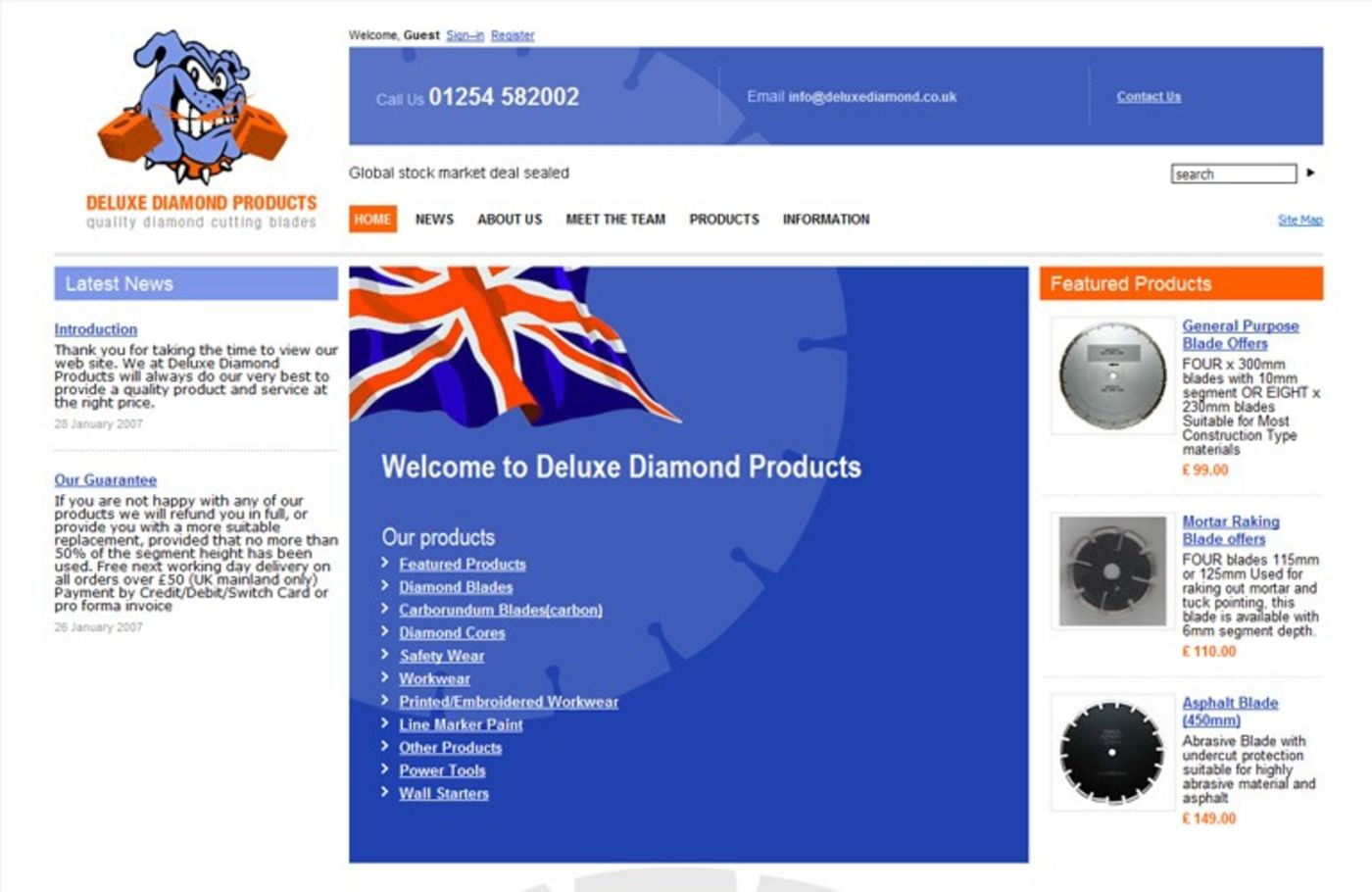Deluxe Diamond Products Homepage