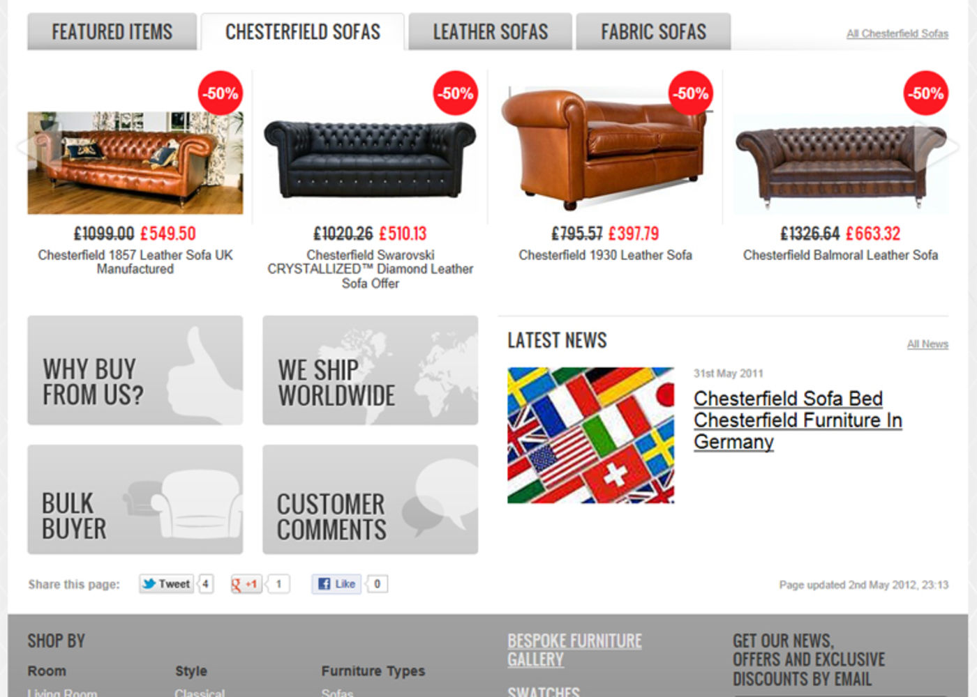 Designer Sofas 4U 2008 Homepage index