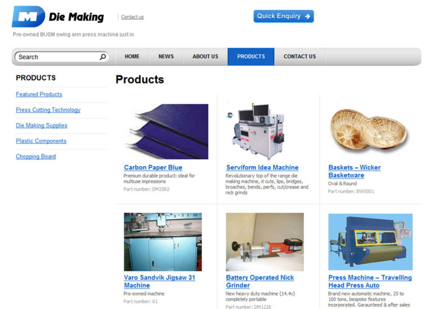 Die Making Products