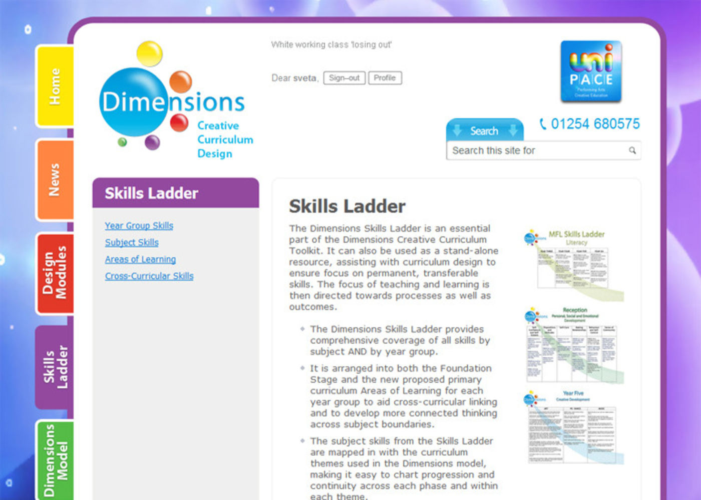 Dimensions Creative Curriculum Regular page