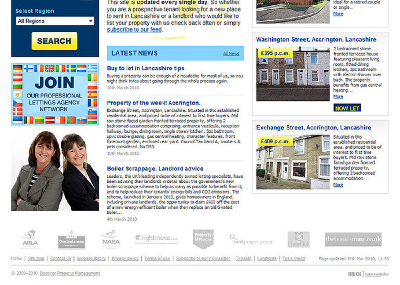 Discover Property Management Homepage footer