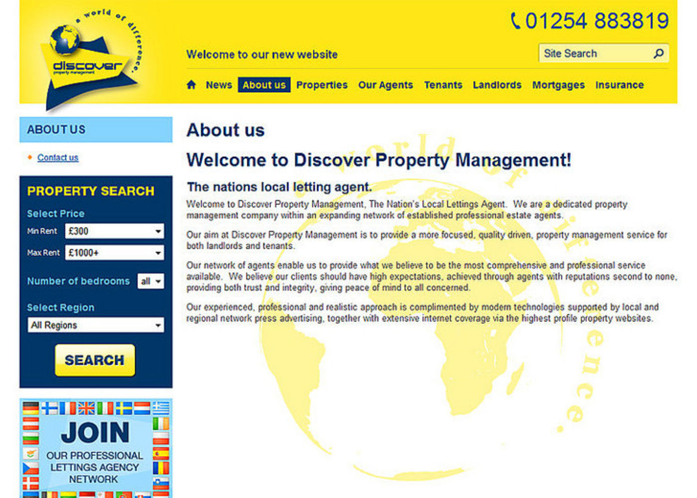 Discover Property Management Regular page