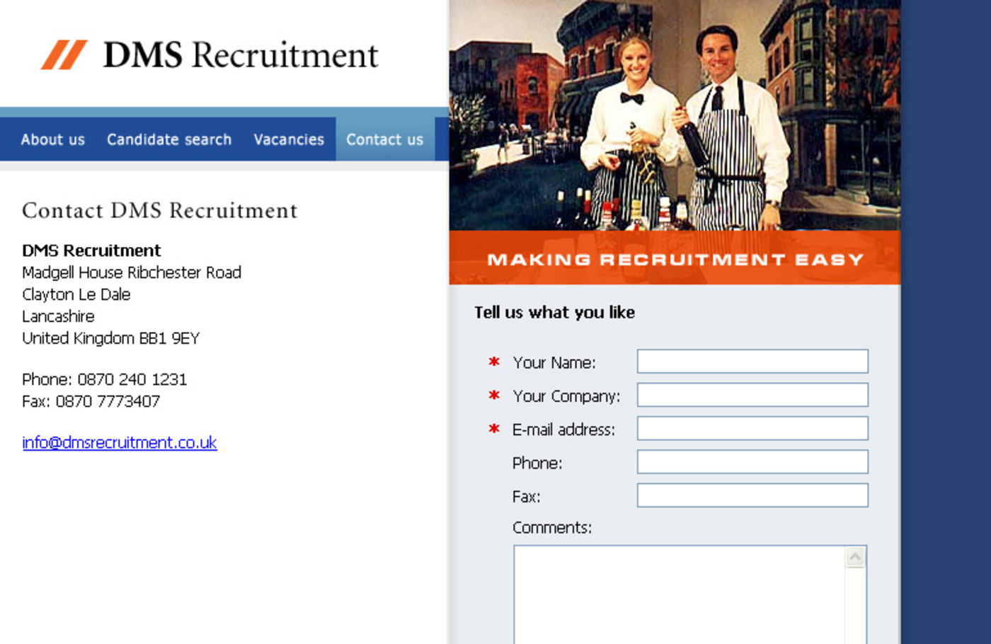DMS Recruitment Contact us