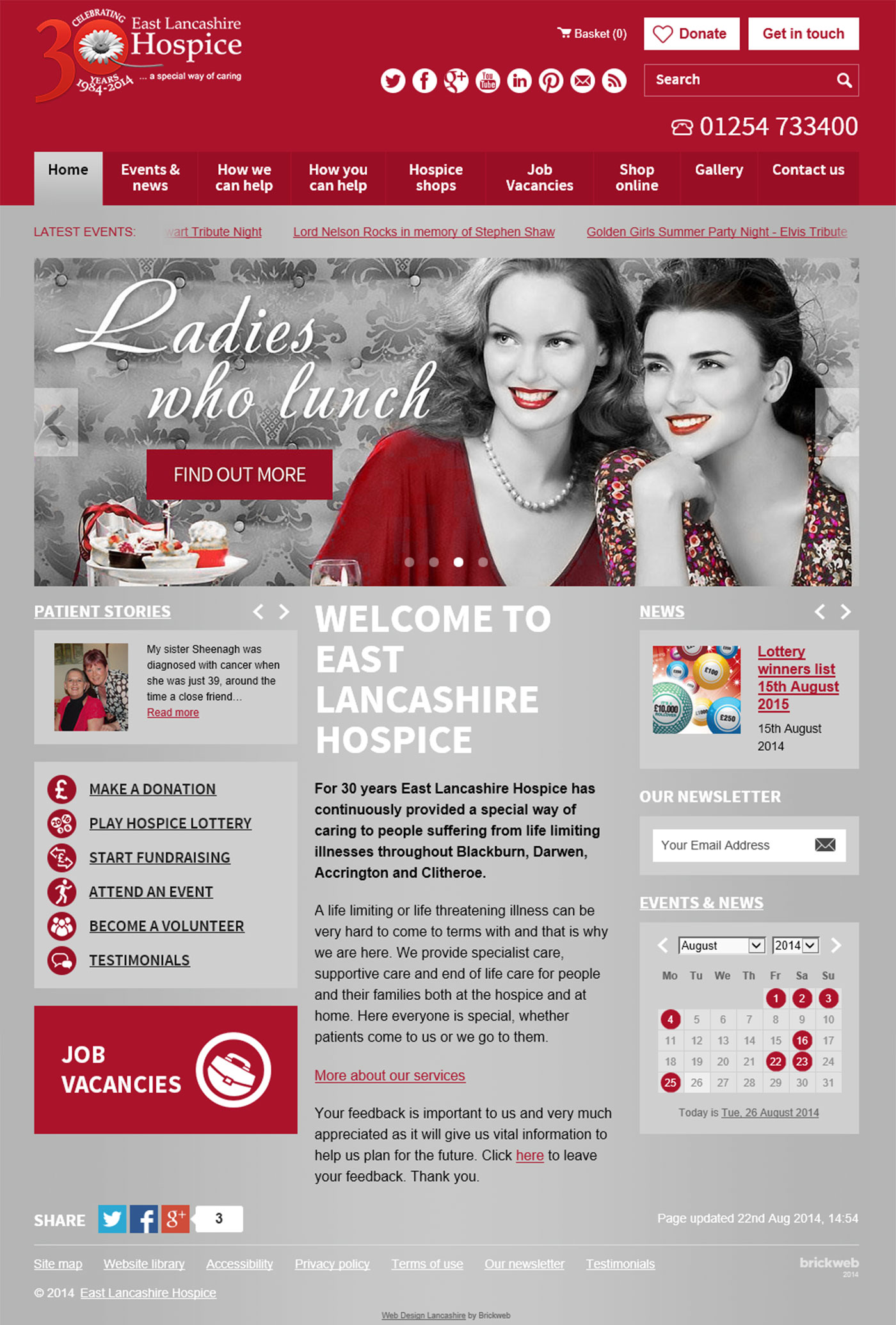 East Lancashire Hospice Home page