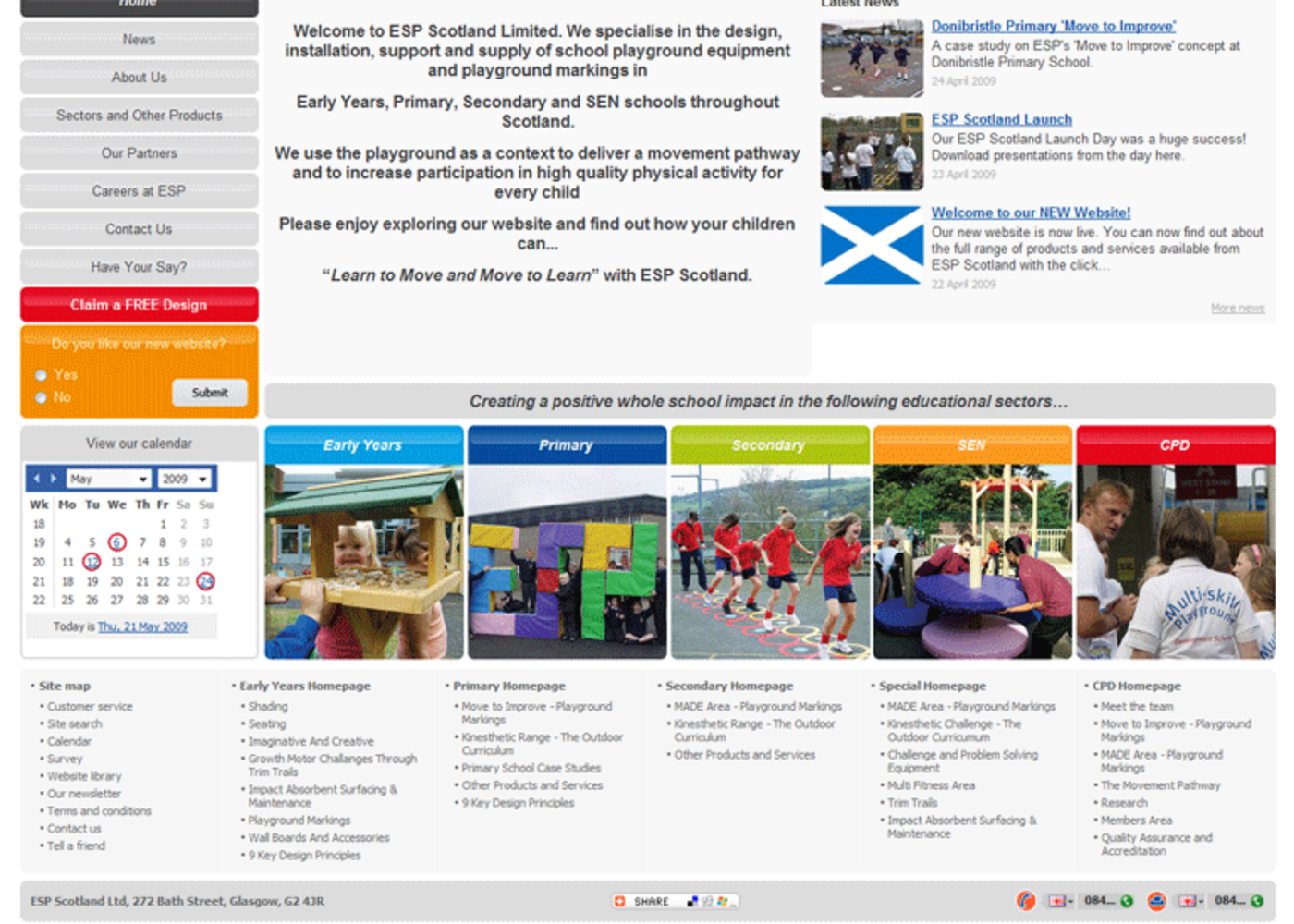 Education and Special Projects Scotland Homepage footer