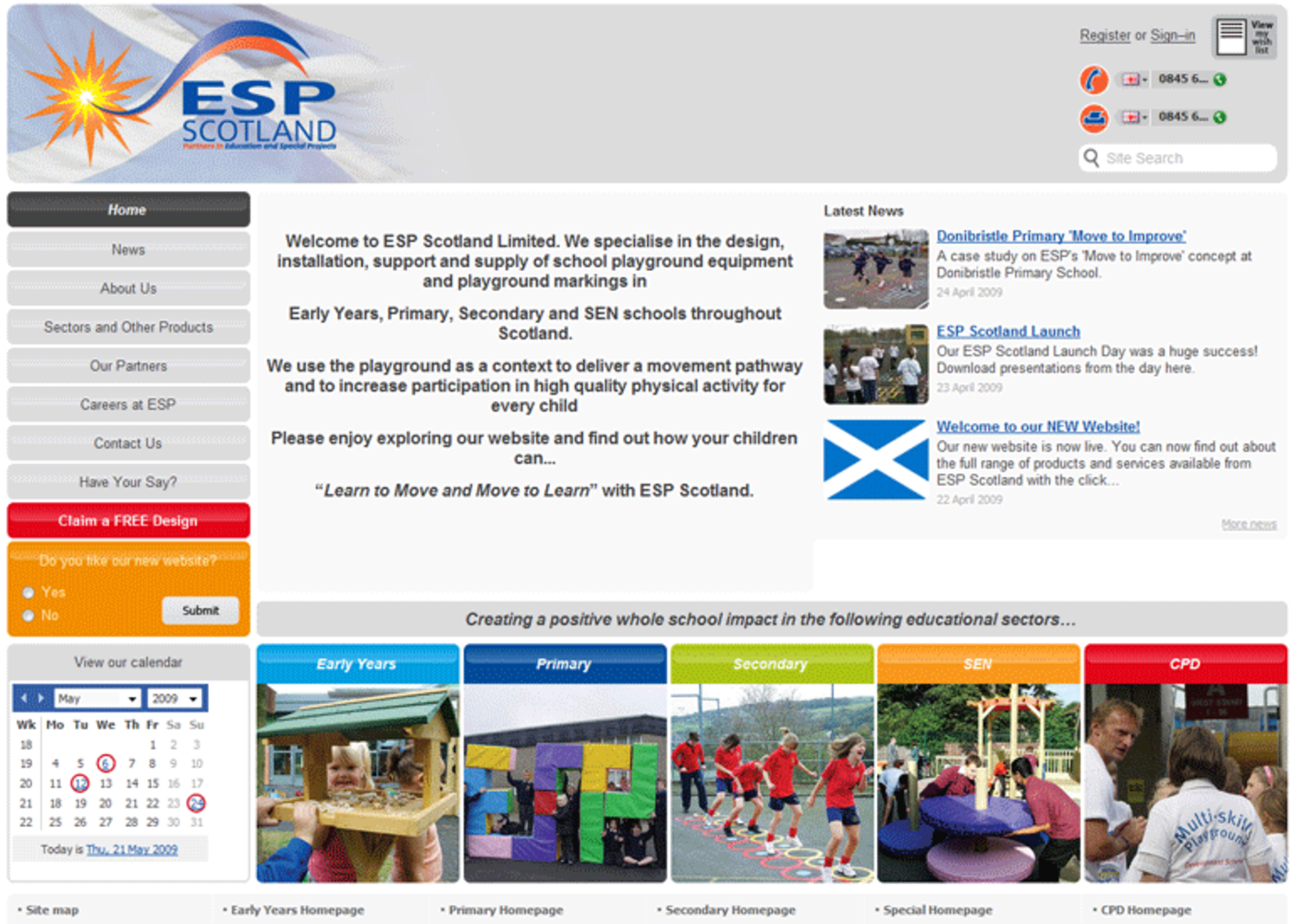 Education and Special Projects Scotland Homepage header