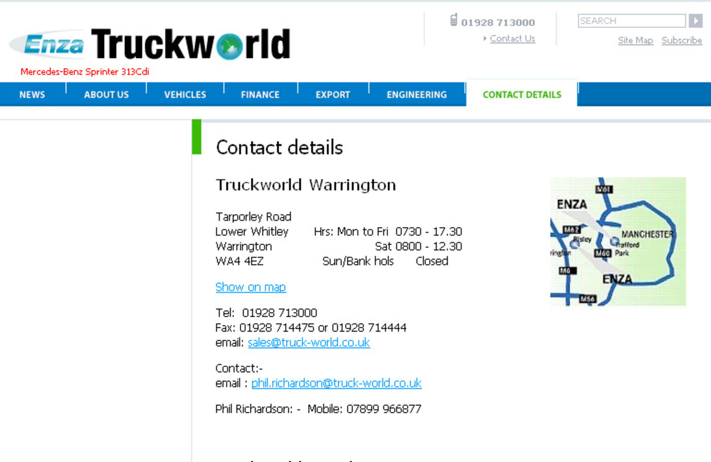 Enza's Truck World Contact details