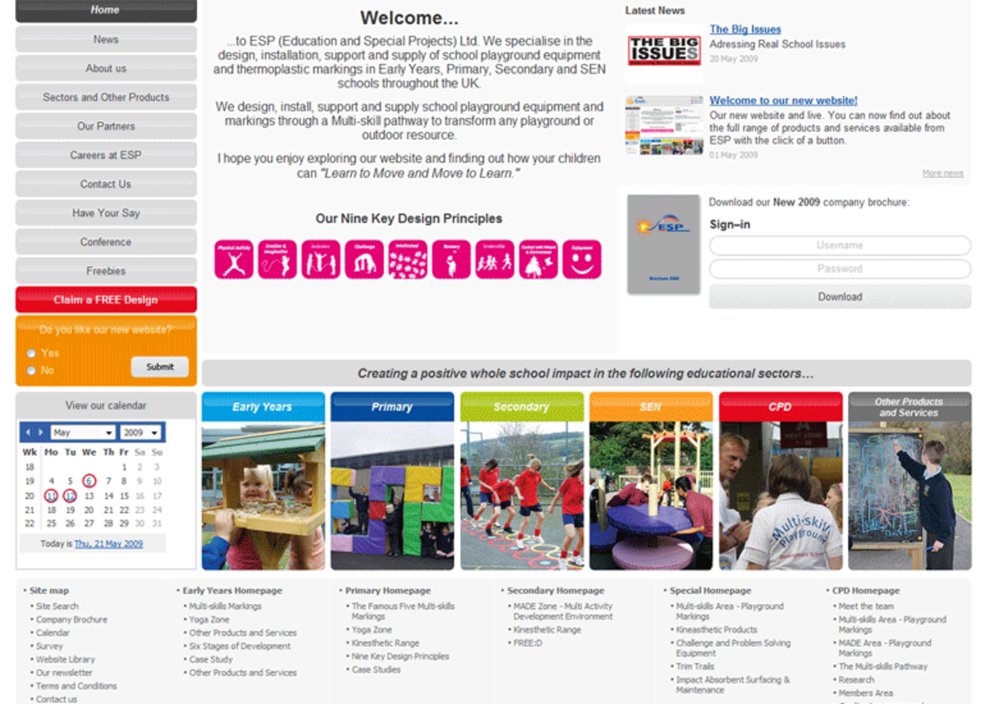 Education and Special Projects Homepage footer