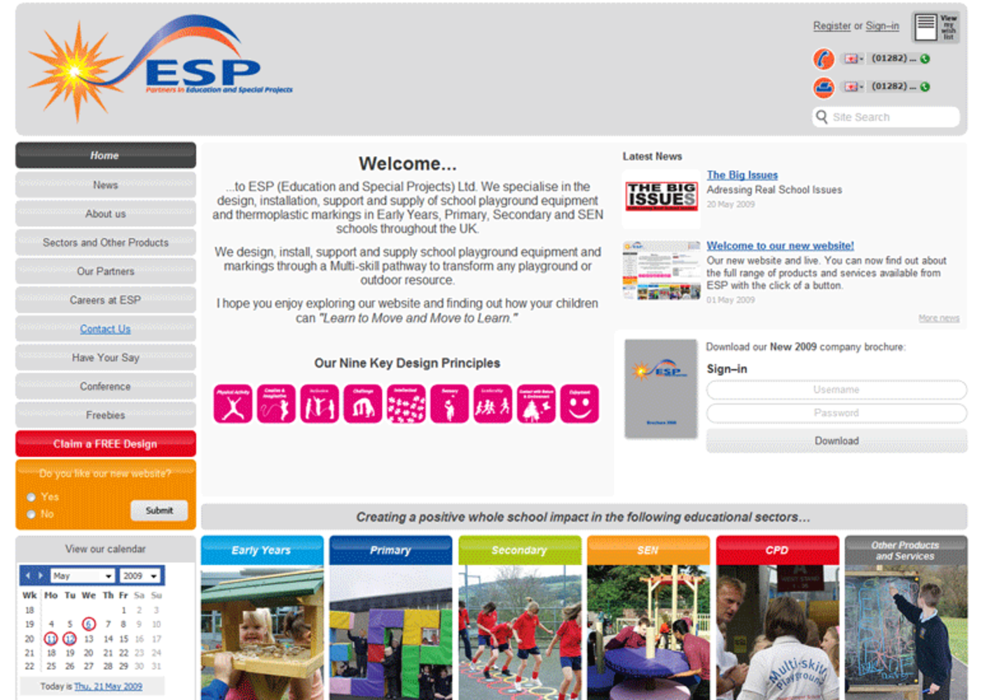 Education and Special Projects Homepage header