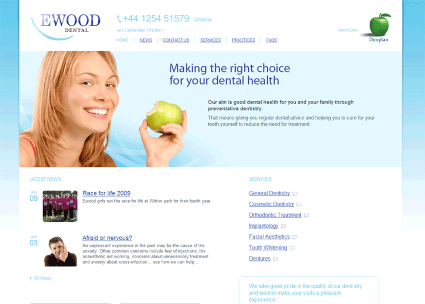 Ewood Dental 2009 Homepage header