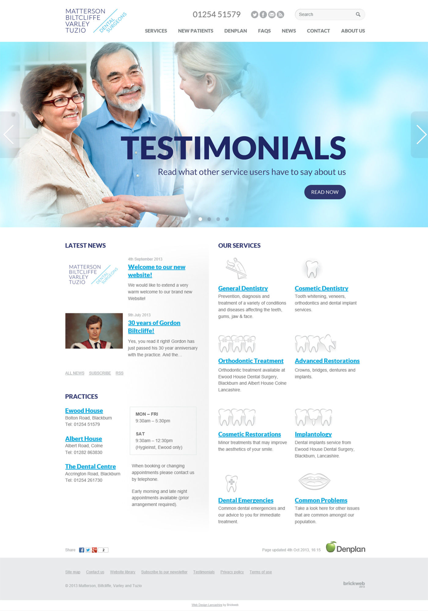 Ewood Dental Home page