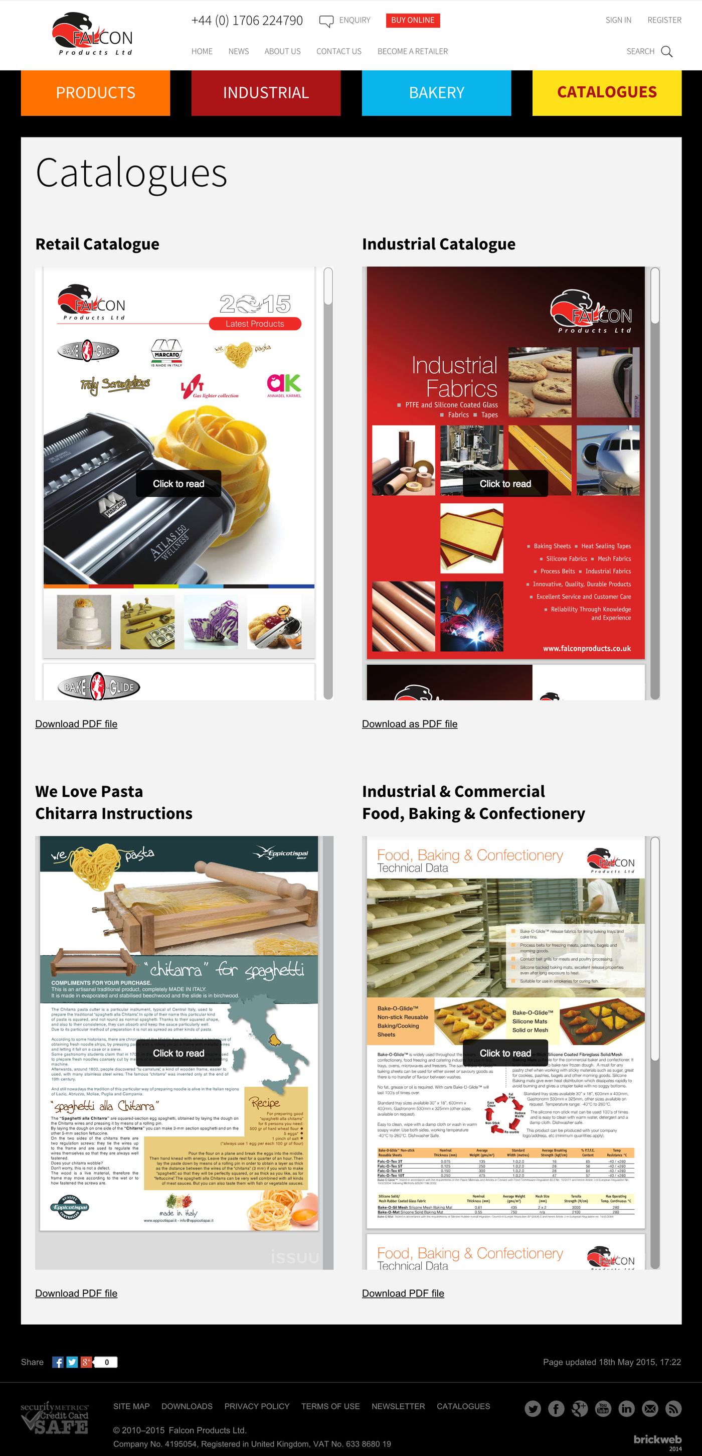 Falcon Products Catalogues