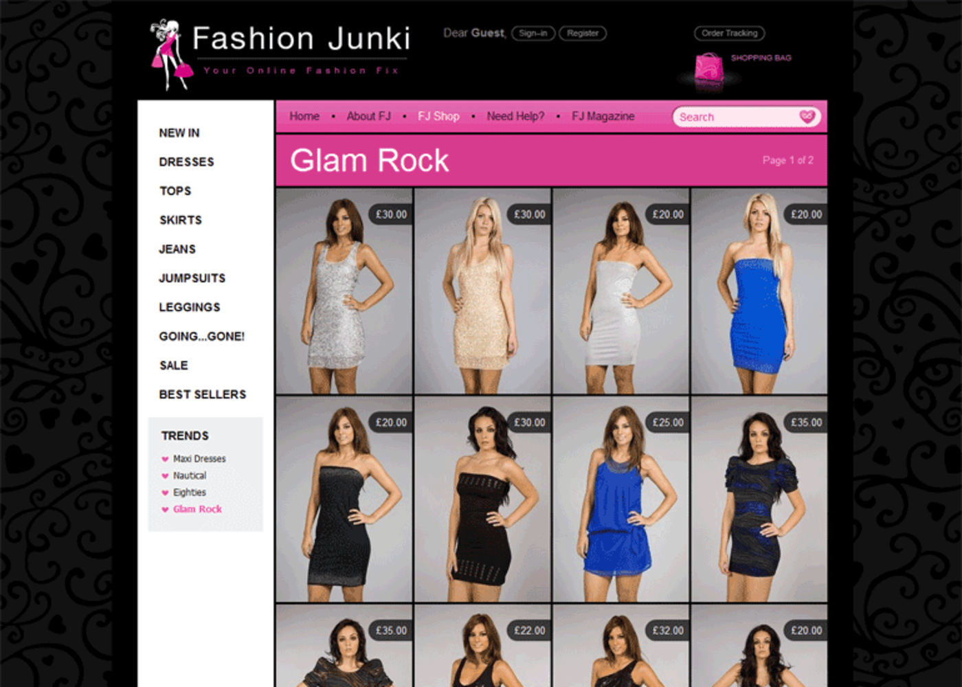 Fashion Junki Trends Glam Rock