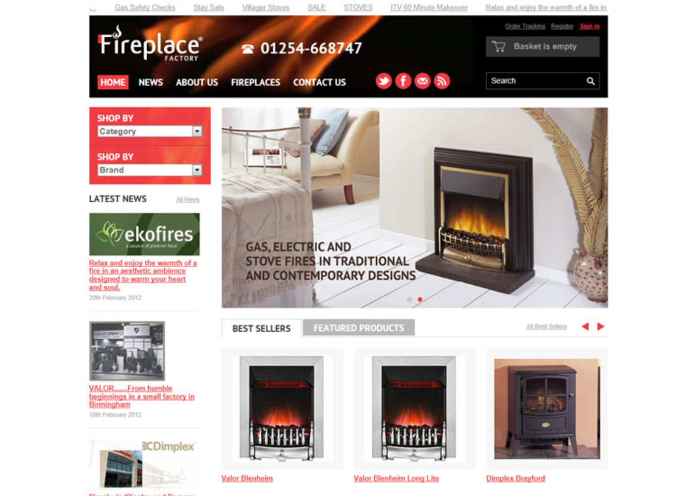 The Fireplace Factory Home page