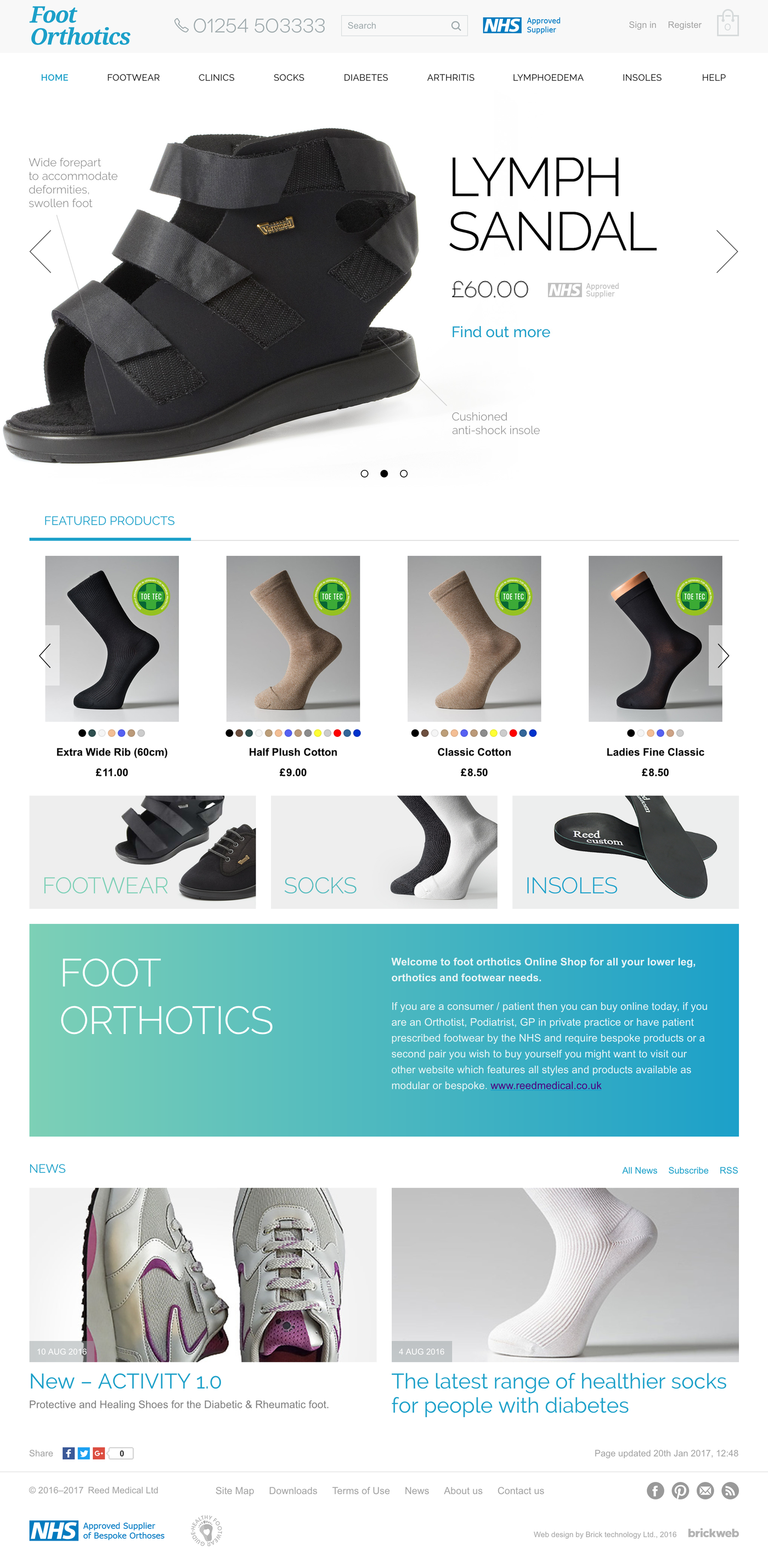 Foot Orthotics Home page