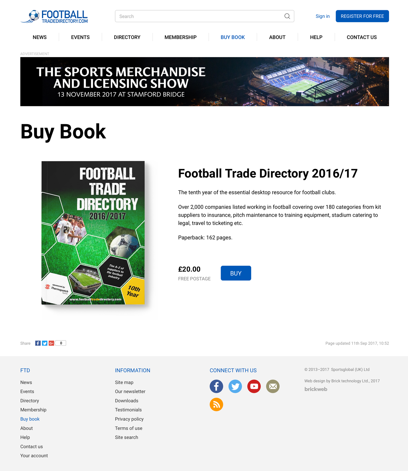 Football Trade Directory Buy Book