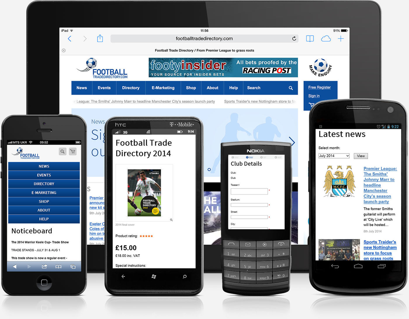 Football Trade Directory 2014 Mobile version Footbal Ttrade Directory