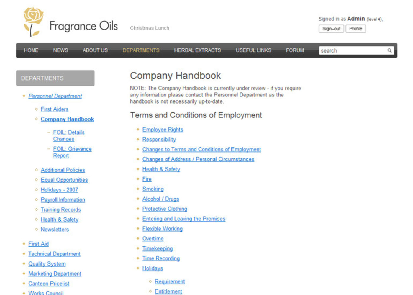 Fragrance Oils Ltd Regular page