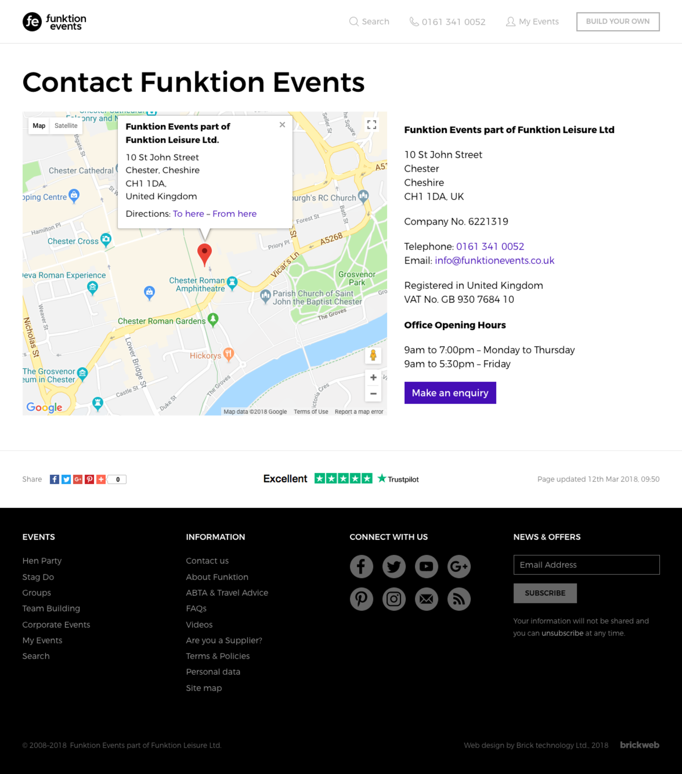 Funktion Events Contact us