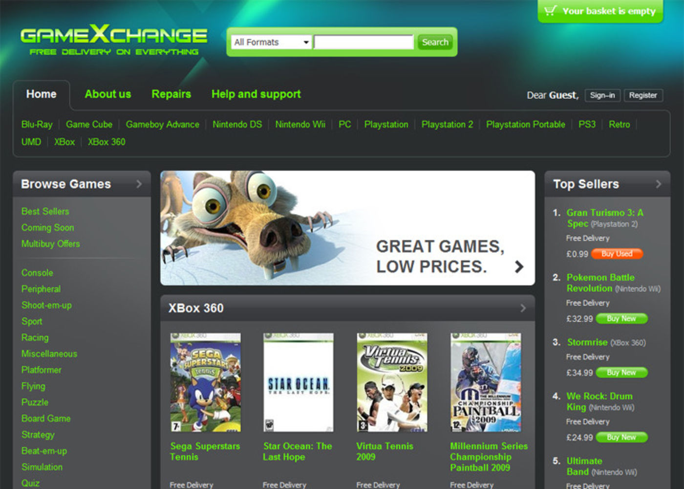 GameXchange 2009 Homepage header