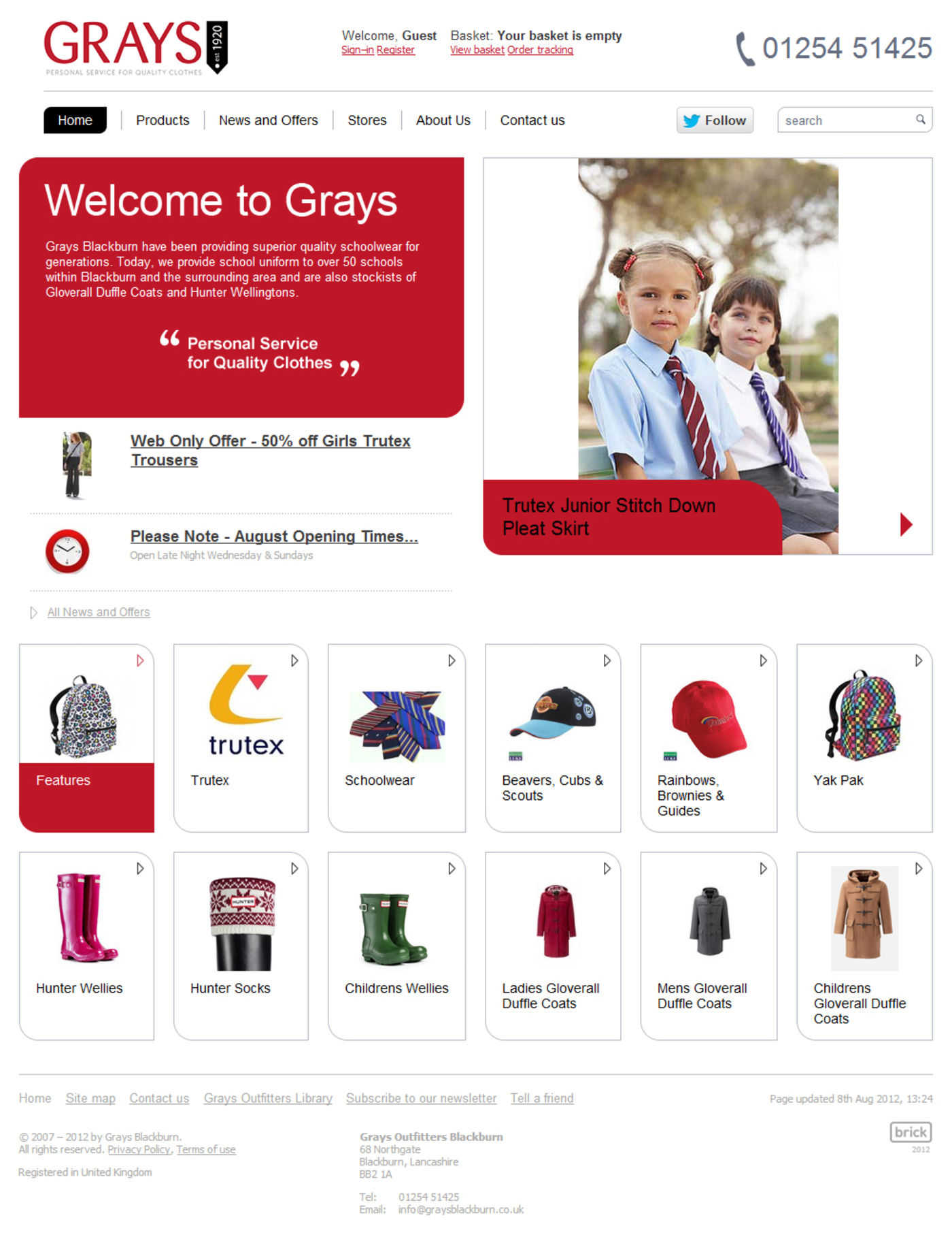 Grays Outfitters Blackburn Home Page