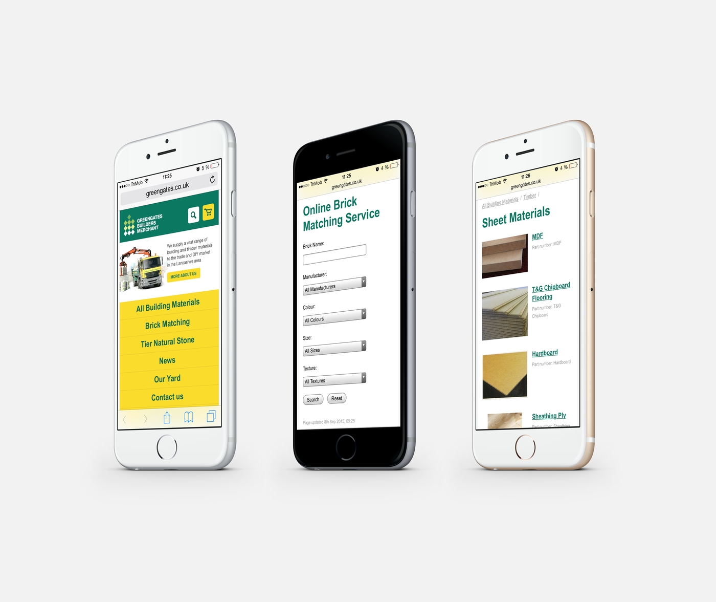 Greengates Builders Merchants 2015 Mobile Version