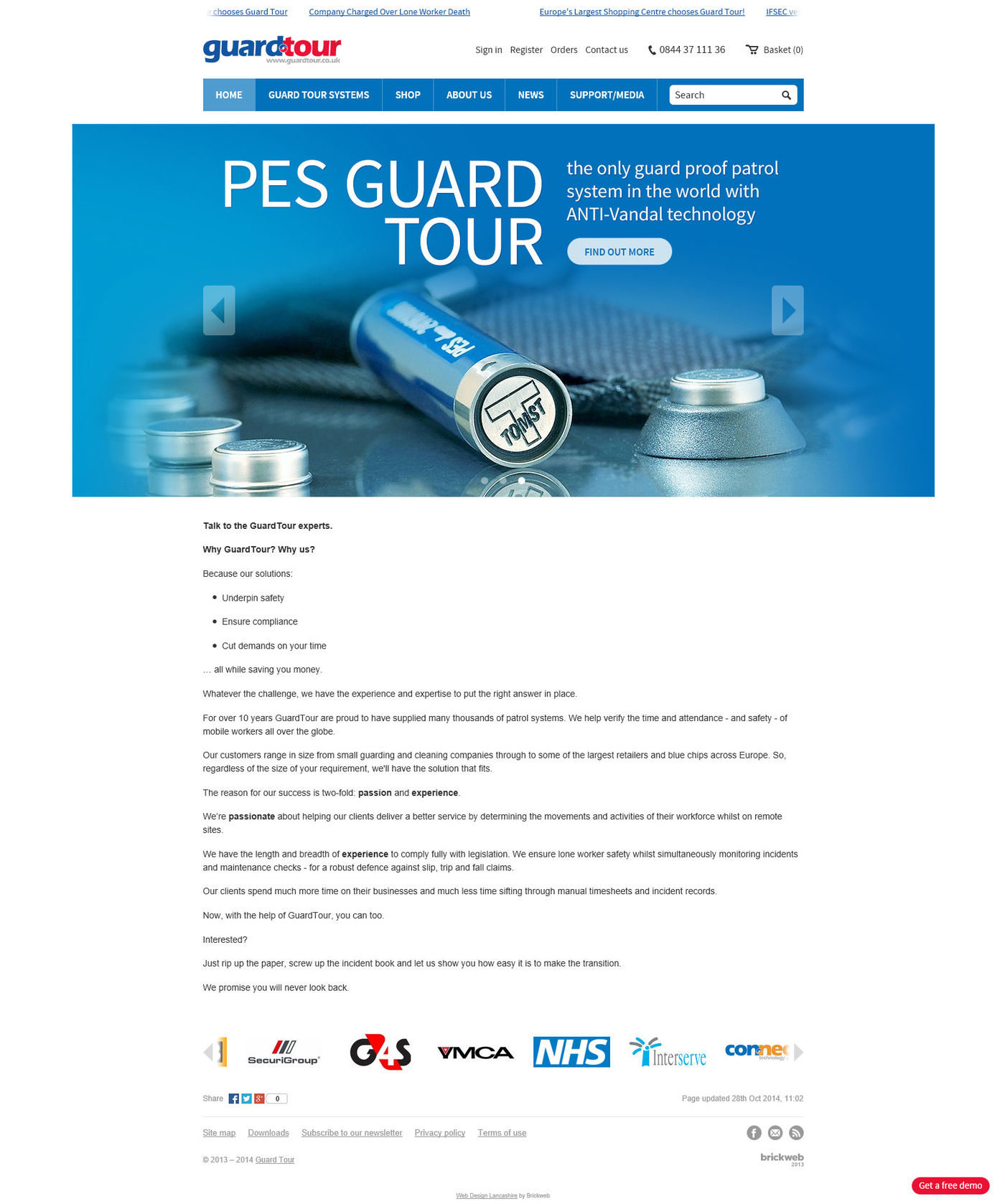 Guard Tour Home page