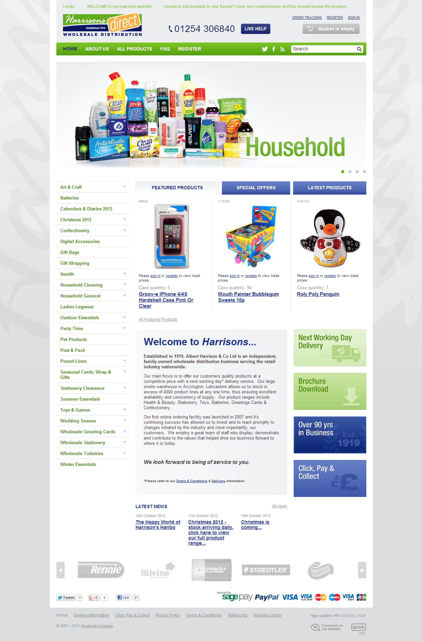 Harrisons Direct Homepage