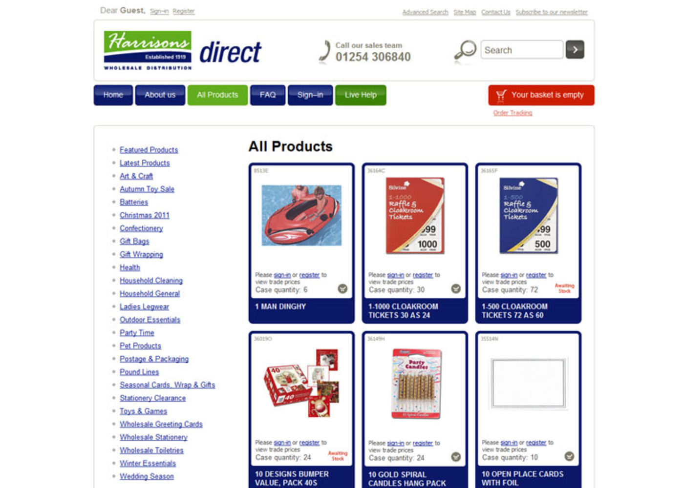 Harrisons Direct 2008 Products