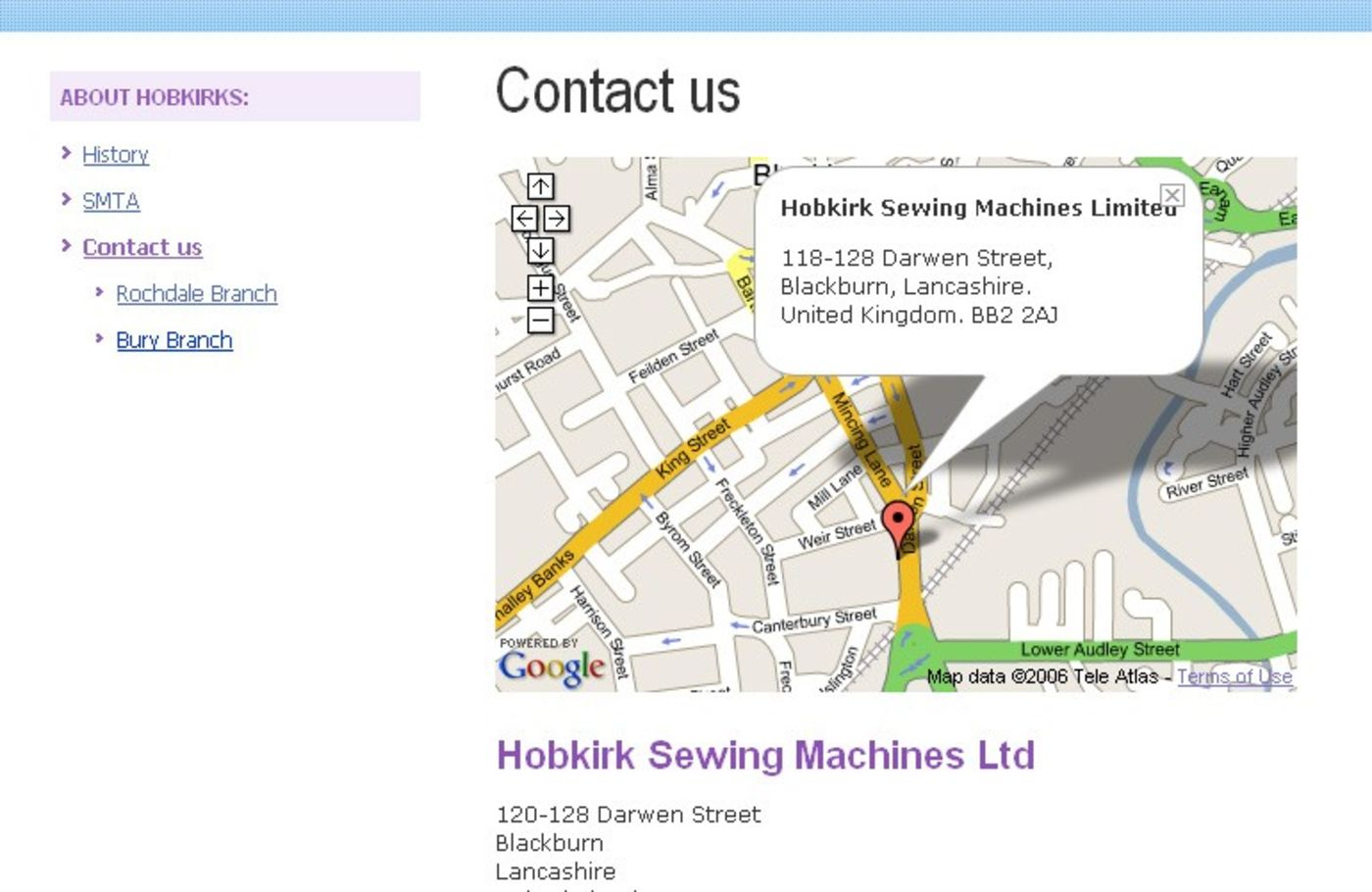 Sewing Machines from Hobkirk Contact us