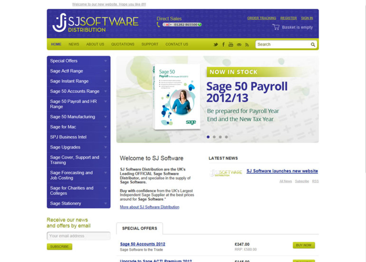 SJ Software Distribution 2012 Homepage header