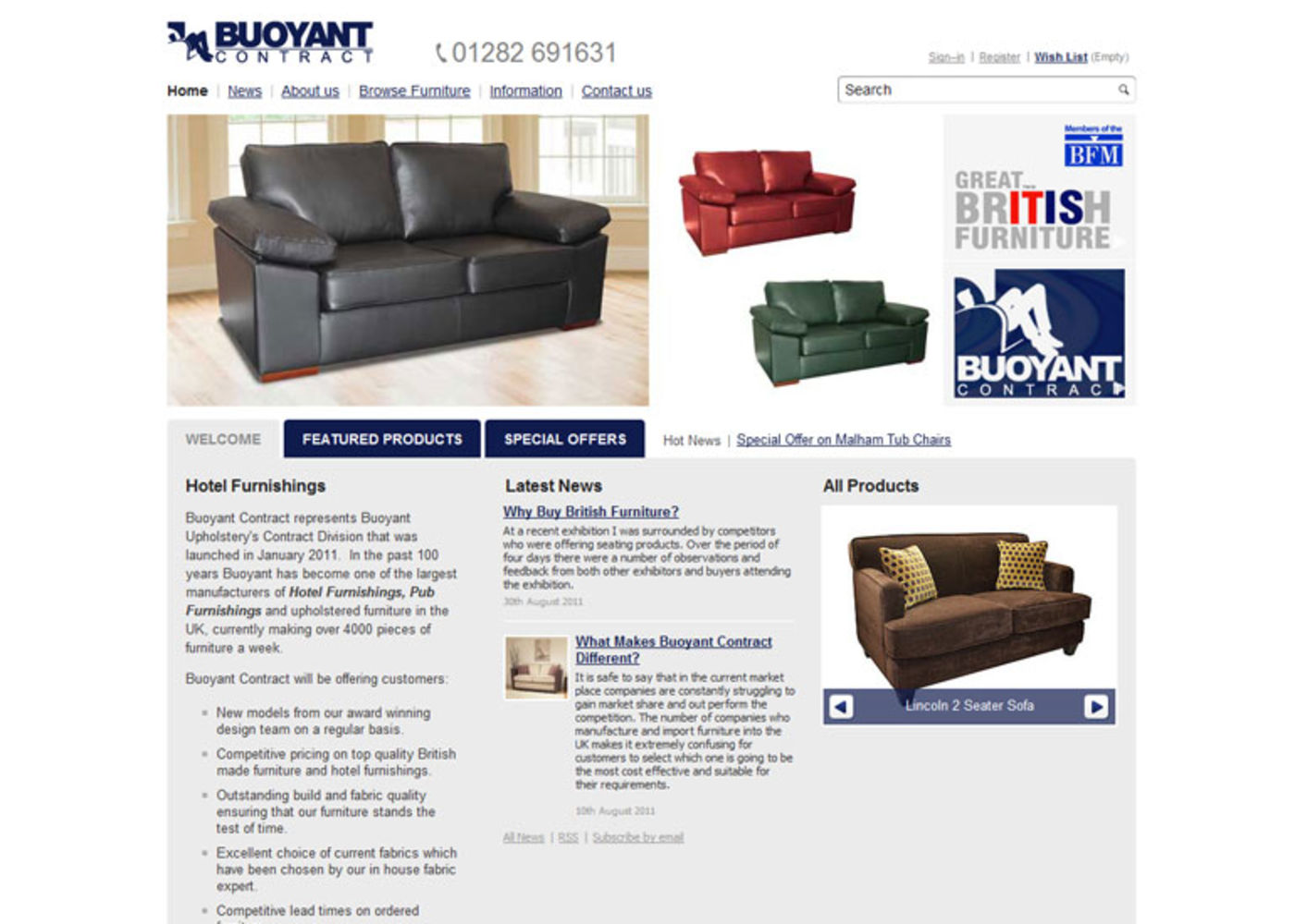 BUOYANT Contract Homepage header