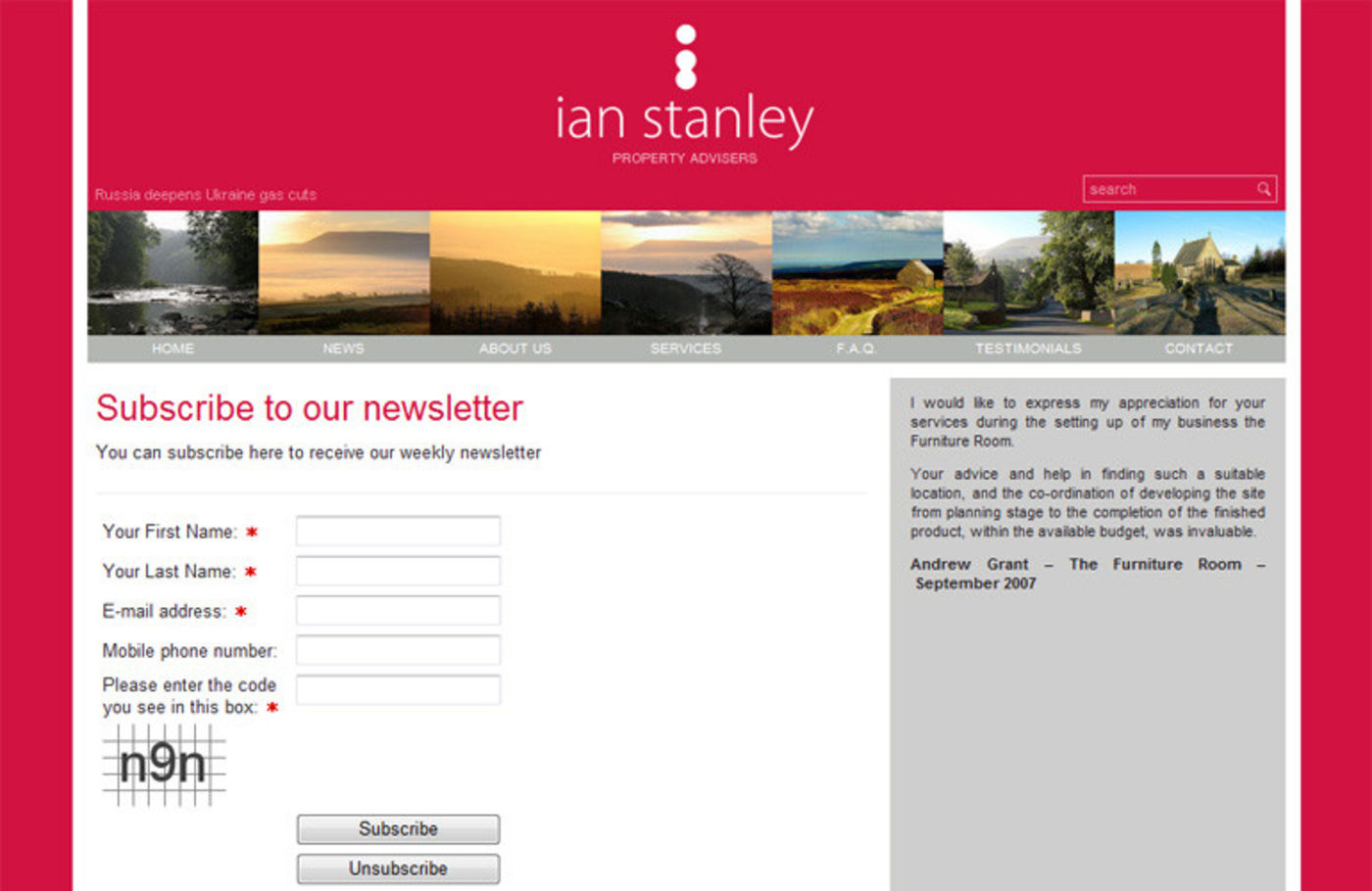 Ian Stanley Property Advisers Form:- Subscribe to our newsletter