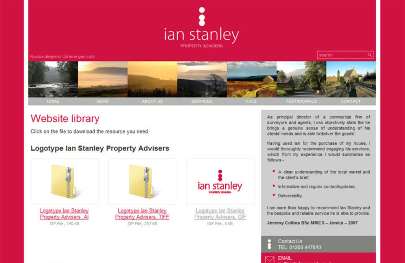 Ian Stanley Property Advisers Website library
