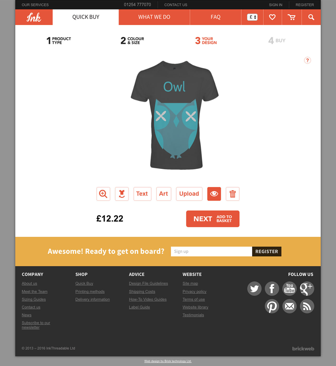 InkThreadable 2013 Product design page