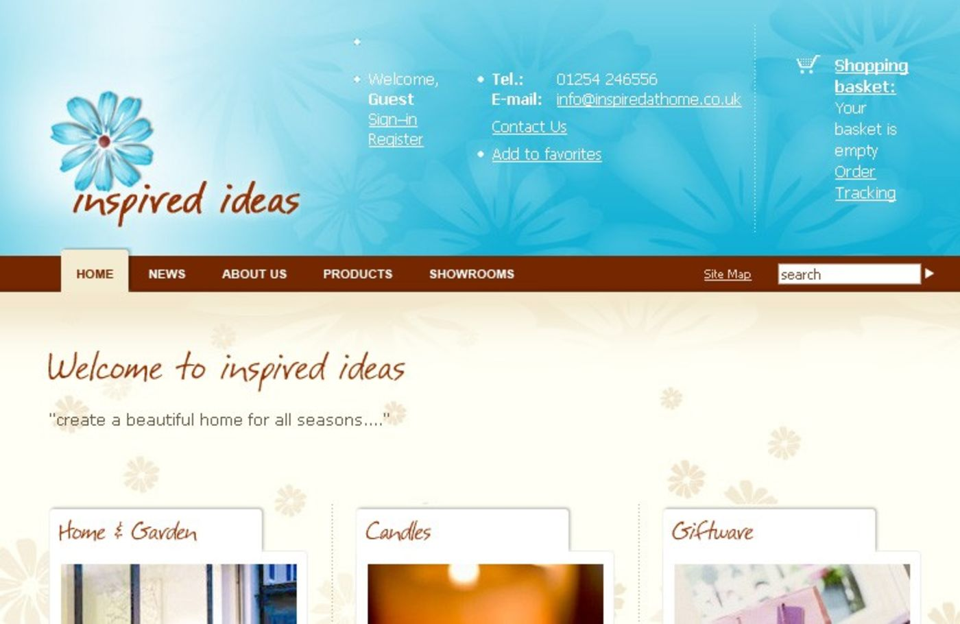 Inspired at Home Homepage header