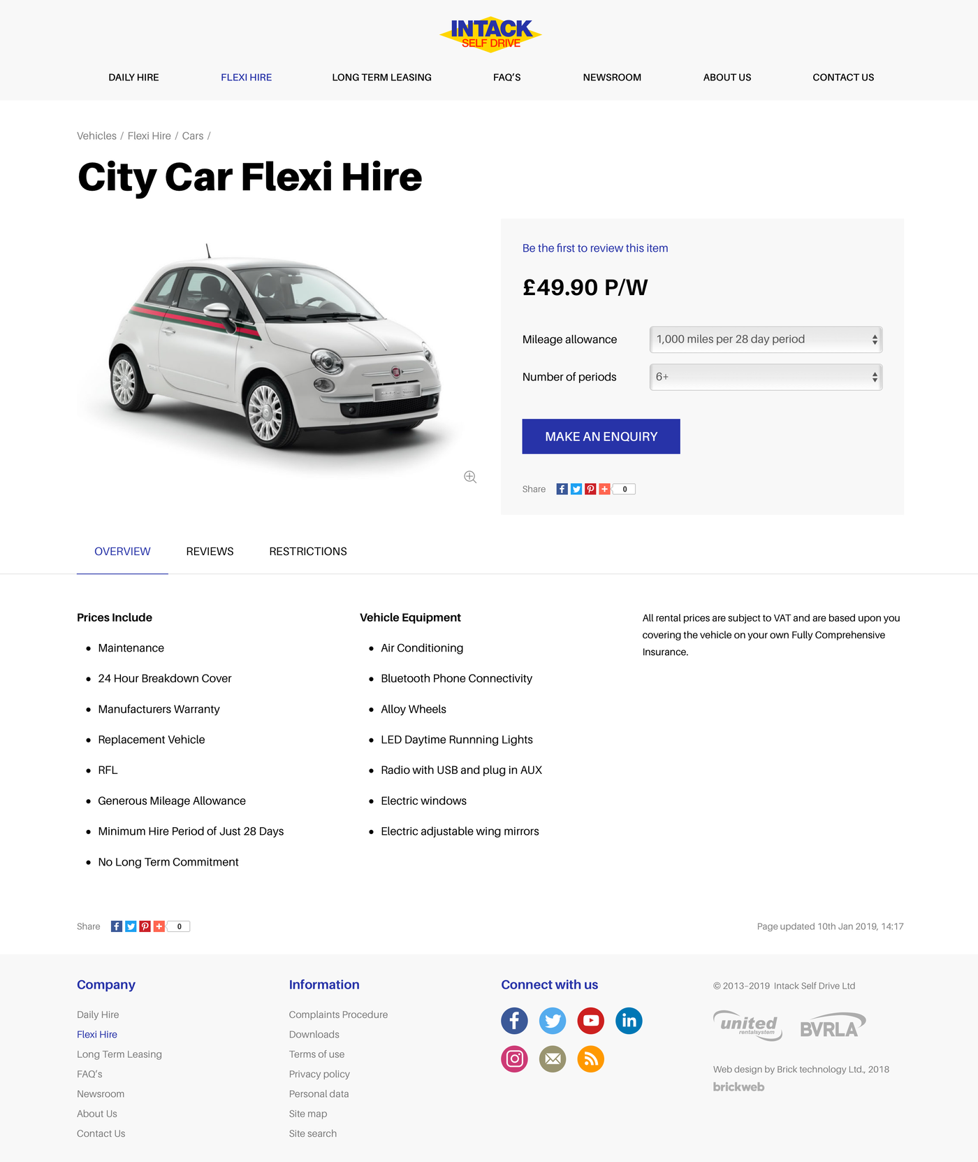 Intack Self Drive Product - Car Hire