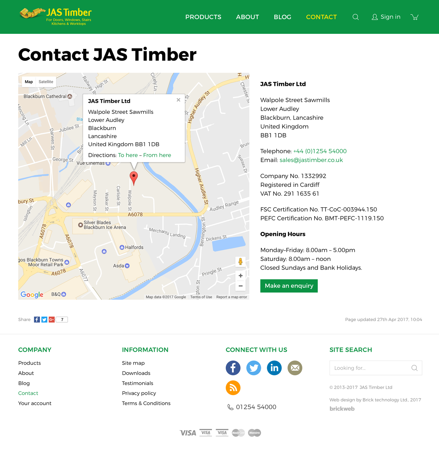 JAS Timber Ltd Contact us