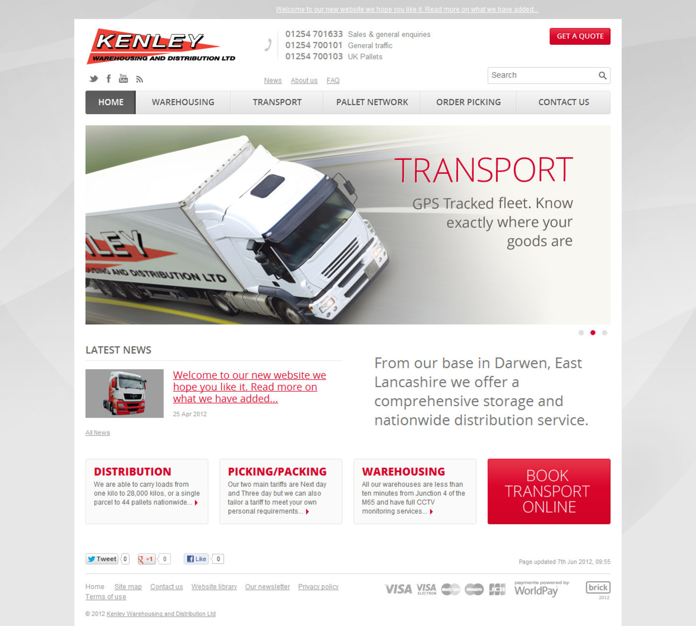 Kenley Warehousing and Distribution Ltd. Homepage