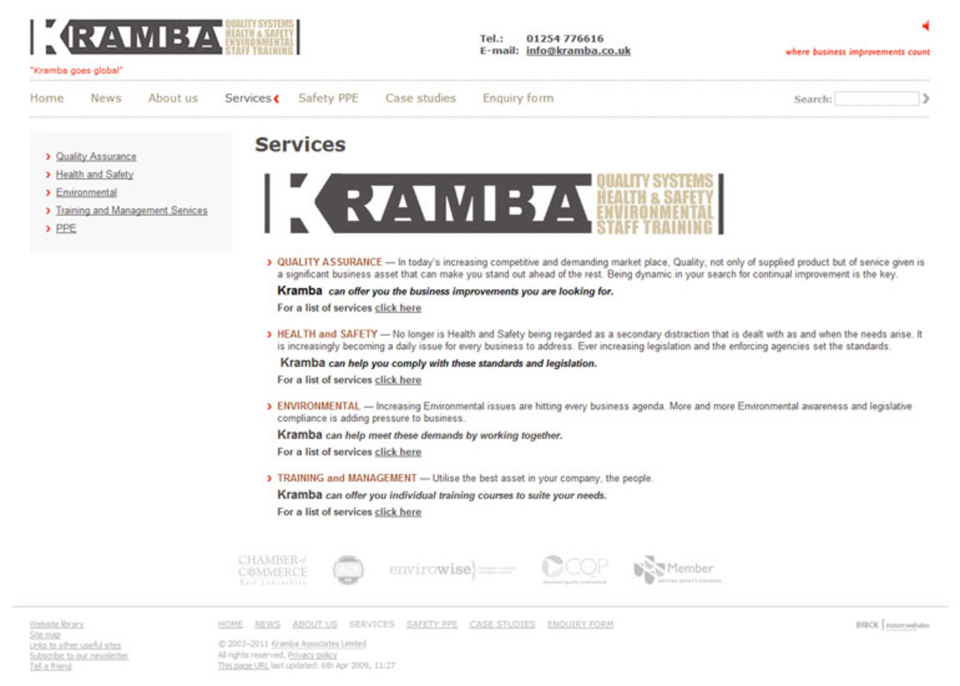 Kramba Associates Limited Services - Kramba