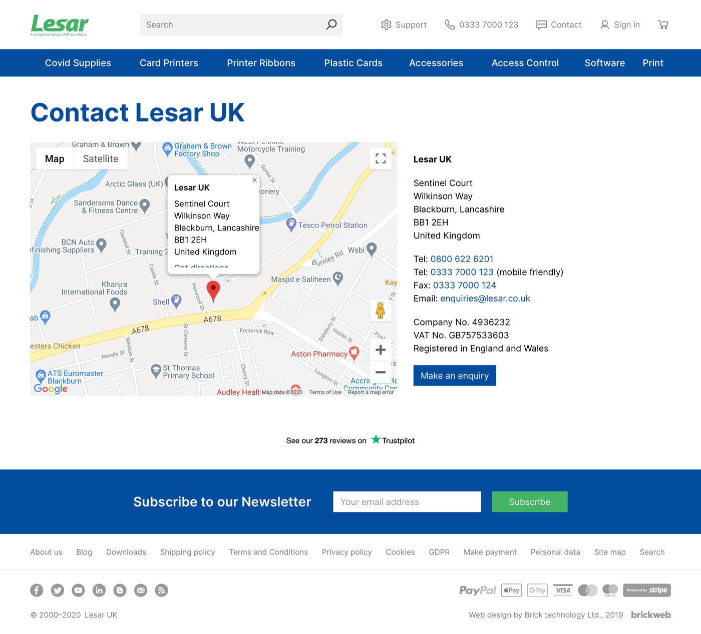 Lesar UK Contact us