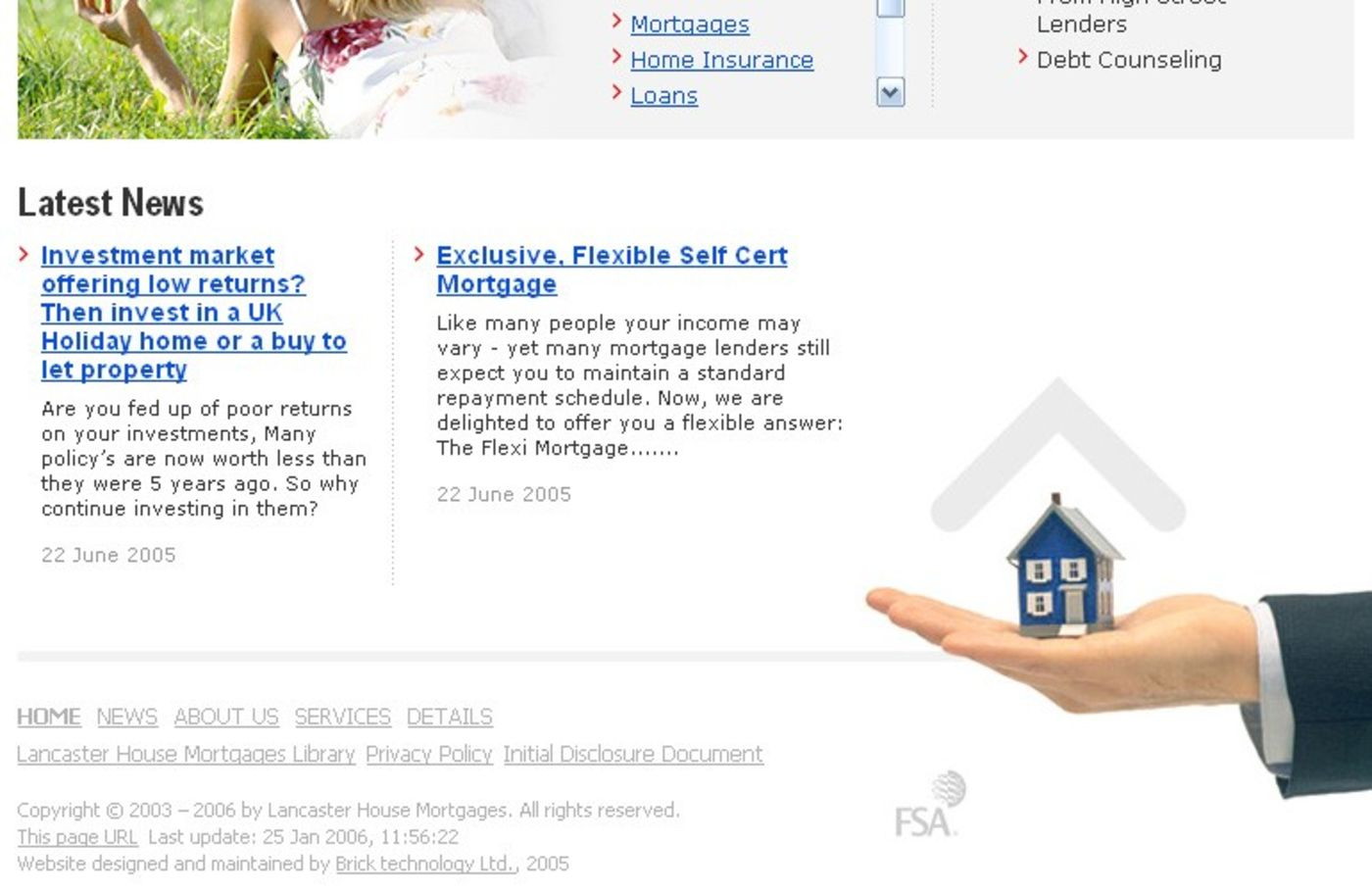 Lancaster House Mortgages Homepage footer