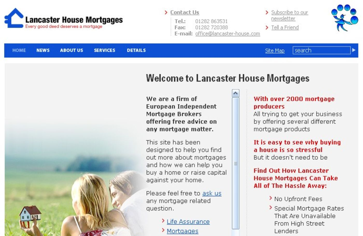 Lancaster House Mortgages Homepage header