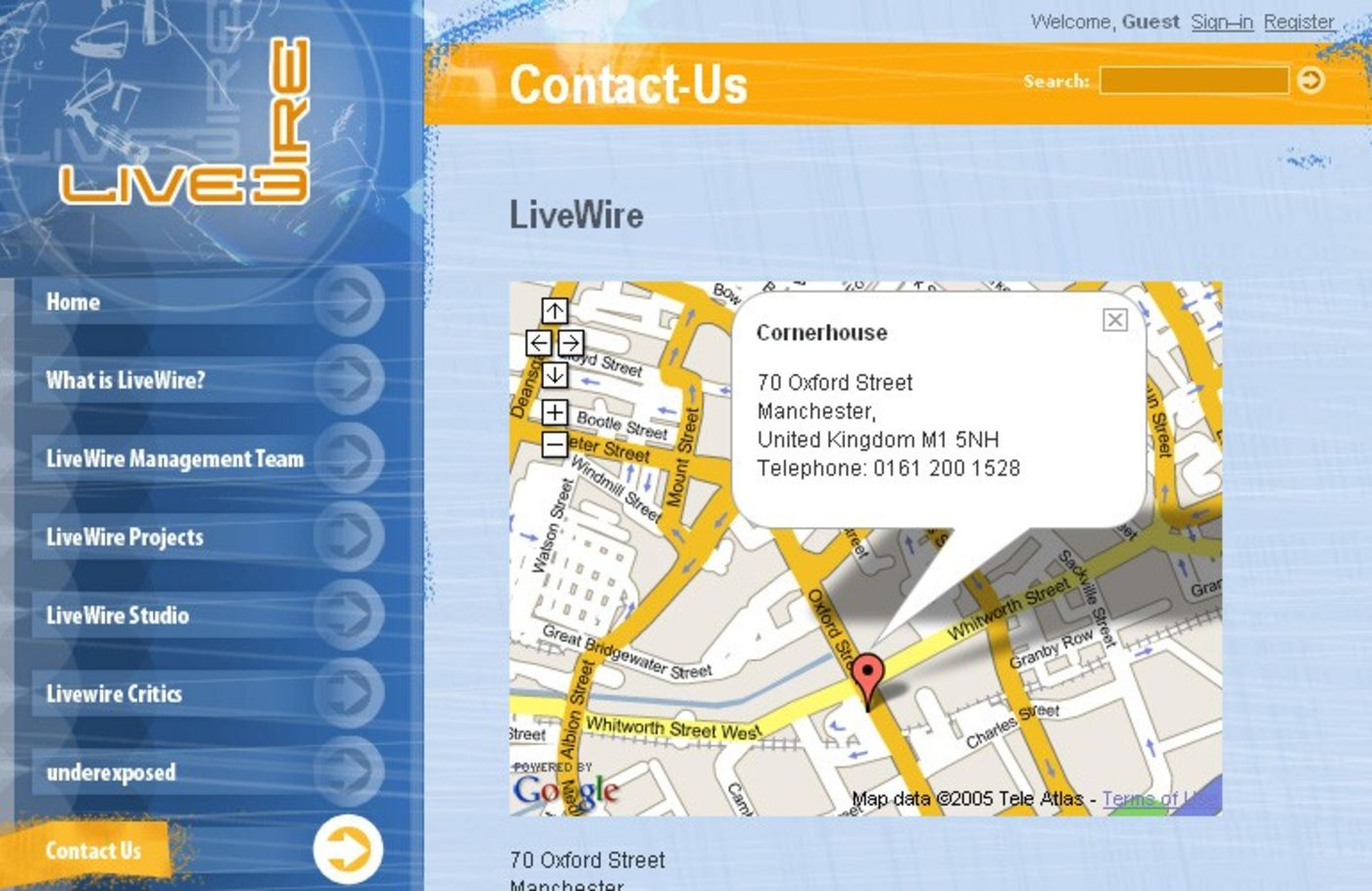 LiveWire Contact us